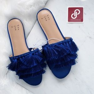 A New Day • Blue Tassel Slides